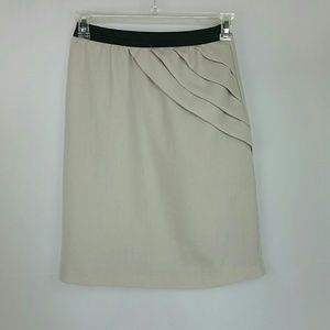 Down east basics off-white pencil skirt XS